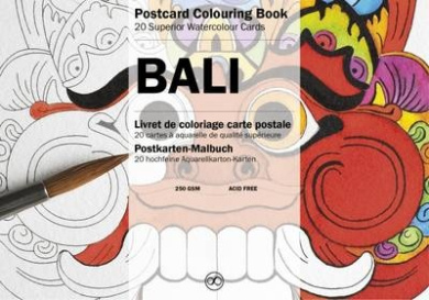 Bali: Postcard Colouring Book