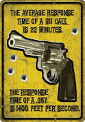 River's Edge 30cm X 43cm Tin Sign the Average Response Time of a 911 Call Is