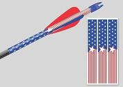 Arrow wraps American flag 2.5cm x 18cm fits most carbon arrows qty. 14