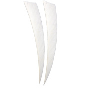 Buffalo 50pcs Peltate Arrow Feathers White Turkey Feather Fletching Feathers For DIY Archery 13cm Right Wing