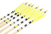 Longbowmaker Printing Turkey Feathers Cedar Wood Target Practise Arrows 6NWYT1