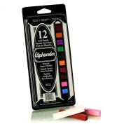 Quartet Alphacolor Soft Pastels, Multi-Cultural Portrait Pastels for Skin Tones, 12 Pastels per Set