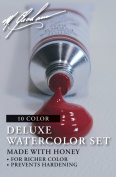 M. Graham Intermediate 10-Colour Watercolour Paint Set, 30ml Tube