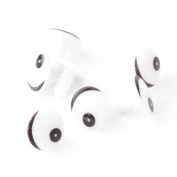100pc Plastic Black White Cartoon Cute Animal Doll Round Eye TOY Craft DIY 16 Mm
