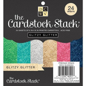 Diecuts With A View MS019052 Paper Stack, 15cm by 15cm , Glitzy Glitter, 24-Pack