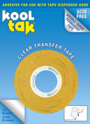 KOOL TAK Clear Transfer Tape, 1.3cm by 36-Yard, Single roll