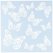 Clear Scraps CSSM6-MONAR Translucent Plastic Film Stencil, Monarch Butterfly, 15cm x 15cm