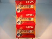 TDK Superior D90 3 pack Normal Bias sealed.