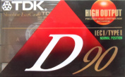 TDK D90 High Output 90 Minute IECI/Type I Cassette Tapes, Set of