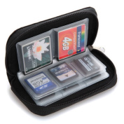 22 Slots Case Pouch Holder for Memory Card SD SDHC MMC CF Micro SD