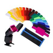 AGPtek® 20pcs Photographic Design Gels Universal Lighting filter Set for Canon/Konica/Minolta/Nikon/Nissin/Olympus/Panasonic/Pentax/Sigma/Sony/Vivitar
