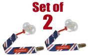 Set of 2 PaciGrip - Universal Pacifier Holder with Clip, that is compatible with all types of pacifiers