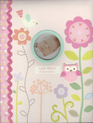 """Baby's First Memmory Book """"Look Whoo's Adorable"""" Pink W/flowers, Owls, & Bird"""