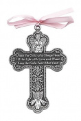 Cathedral Art CM7 Baby Girl Cross Crib Medal, 7.6cm High