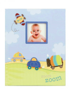 """""""zoom zoom"""" Baby's First Record Memory Book Keepsake First 5 Years car plane boy Baby Book"""