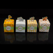 Ifavor123 Set of 24 Born to Be Wild Favour Box Baby Shower Jungle Themed