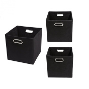 Modern Littles Smarty Pants Organisation Bundle-3 Storage Bins, Black