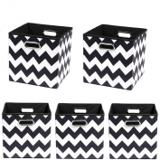 Modern Littles Organisation Bundle-5 Storage Bins, Bold Chevron