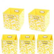 Modern Littles Organisation Bundle-5 Storage Bins, Rusty Giraffe