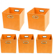 Modern Littles Organisation Bundle-5 Storage Bins, Bold Orange