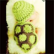 Kalevel Cute Tortoise Style Infant Newborn Baby Girl Boy Crochet Beanie Hat Clothes Baby Photograph Props