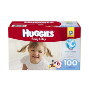 Huggies Snug and Dry Nappies, Size 6, 100 Count