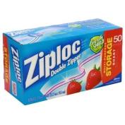 Ziploc Double Zipper All-Purpose Storage Quart Value Pack Bags - 50 CT