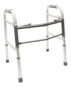 Two-button Folding and Height-adjustable Walker