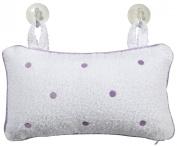Luxury Bath Pillow-Lavender Dots