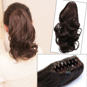 NEW . Curly Ponytail Extension Long Claw Clip on Layered Hair Piece pp42