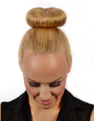 Golden Blonde Mix Hair DoNut | Up Do Soft Flexi Hair Ring | Multi Use Hairstyler | Bun creator