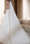 Qishi's Long 300cm Double Layer Accesory Wedding Bridal Veil