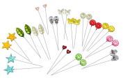 Assorted Decorative Straight Hijab Pins