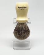 Spitalfields 100% Pure Badger Bristle with Ivory Resin Handle Shaving Brush and FREE Acrylic Stand - Brick Lane - Ivory