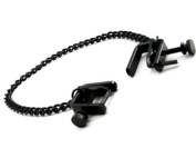 M2m Nipple Clamps, Press With Chain, Black