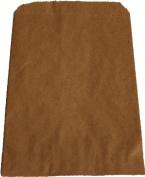 100 Natural Kraft Merchandise Bags, 13cm x 19cm , No Gusset