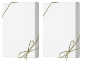 10pack Mens Shirt White Gift Wrap Packaging Box with Gold Stretch Loop Bows