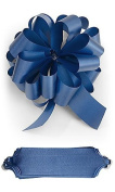 10 Royal Blue Pull Bows 14cm Diameter 20 Loops Gift Wrapping Wrap Ribbon Bow