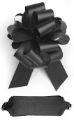 10 Black Pull 14cm Diameter Bow 20 Loops Gift Wrapping Wrap Ribbon Instant Bows