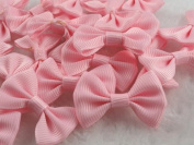 50pcs Mini Grosgrain Ribbon Bow Flowers Wedding Decoration Appliques-u Pick
