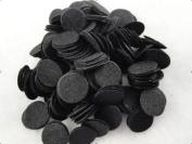 1000pcs Felt 20mm Circle Appliques Black