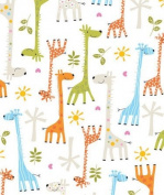 Baby Giraffe Gift Wrapping Roll 60cm x 4.6m - Baby Shower Gift Wrap Paper