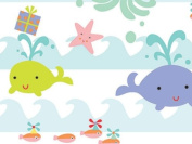 Sea Babies Gift Wrapping Roll 60cm X 4.9m - Birthday Baby Gift Wrap Paper
