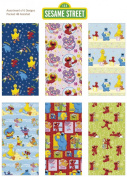 Sesame Street, Elmo Birthday Gift Wrap Wrapping Paper for Boys, Girls, Kids 6 Different 1.5m X 80cm Rolls Included!