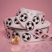 Ribbon - Soccer Balls Ribbon 2.2cm X 10yd, Sports Ribbon, Sport Ribbon