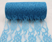 15cm wide x 10 Yards Sparkle Floral Pattern Lace Fabric for Decorating, Floral Designing and Crafts