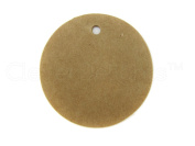 100 CleverDelights Circle Kraft Gift Tags / Hang Tags - 3.8cm Diameter - Brown Kraft Hang Tags - For Gifts, Crafts, Party Favours, Weddings, Price Tags - Thick Heavy Duty - 3.8cm