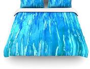 "Kess InHouse Rosie Brown ""Wet and Wild"" Queen Cotton Duvet Cover, 220cm by 220cm"