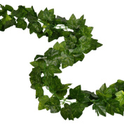 RURALITY 2.4m Artificial Silk English Ivy Wedding Garland ,Pack of 2