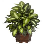Nearly Natural 6639 Golden Dieffenbachia Decorative Silk Plant, Green